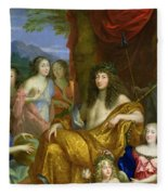 The Family Of Louis Xiv 1638-1715 1670 Oil On Canvas Detail Of 60094 Fleece Blanket