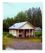 The Famous Cabin Of Fannie Quigley Fleece Blanket