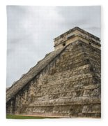 The Famous Kulkulcan Pyramid At Chichen Itza Fleece Blanket