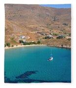 The Famous Psili Ammos Beach Fleece Blanket