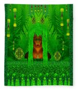 The Fantasy Girl In The Fauna  Fleece Blanket