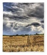 The Farm In The Summer Fleece Blanket