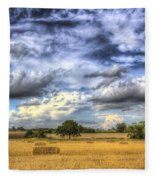 The Farm In The Summertime  Fleece Blanket