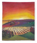 'the Farm' Fleece Blanket