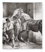The Farrier, From Etudes De Cheveaux Fleece Blanket