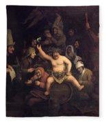 The Feast Of Bacchus, 1654 Fleece Blanket