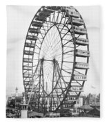 The Ferris Wheel At The Worlds Columbian Exposition Of 1893 In Chicago Bw Photo Fleece Blanket