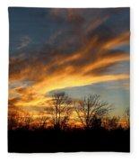 The Fiery Sky Fleece Blanket