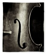The Figure Of A Cello Fleece Blanket