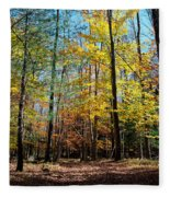 The Final Days Of Autumn Color Fleece Blanket