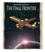 The Final Frontier Fleece Blanket