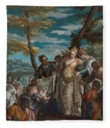 The Finding Of Moses Fleece Blanket