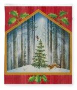 The Fir Tree Fleece Blanket