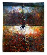 The Fire Of Forest-the Fire Of Heart Fleece Blanket