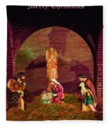The First Christmas - Greeting Card Fleece Blanket