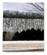 The First Snow New Hope Pa Fleece Blanket