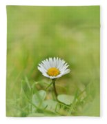 The First White Daisy Fleece Blanket