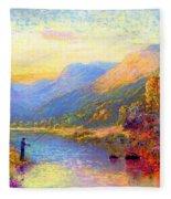 Fishing And Dreaming Fleece Blanket
