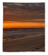 The Fisherman's Golden Hour Fleece Blanket