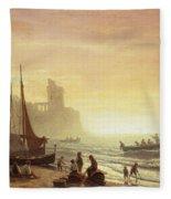 The Fishing Fleet Fleece Blanket