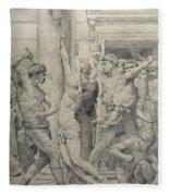 The Flagellation Of Christ Fleece Blanket