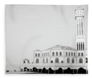 The Floating Mosque Fleece Blanket