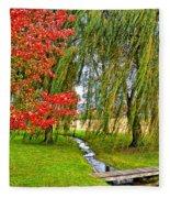 The Flow Of Autumn Fleece Blanket