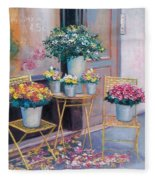 The Flower Shop Paris Fleece Blanket