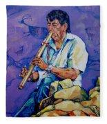 The Flute Player Fleece Blanket