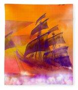The Flying Dutchman Ghost Ship Fleece Blanket
