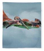 The Flying Pair Fleece Blanket