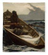 The Fog Warning .halibut Fishing Fleece Blanket