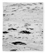The Footprints At Wineglass Fleece Blanket