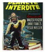 The Forbidden Planet Vintage Movie Poster Fleece Blanket
