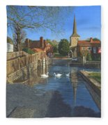 The Ford At Eynsford Kent Fleece Blanket