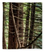 The Forest Combed By The Wind In The Lake Fleece Blanket