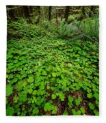 The Forest Floor Fleece Blanket