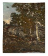 The Forest Of Fontainebleau Fleece Blanket