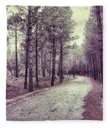 The Forest Road Retro Fleece Blanket