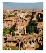 The Forum From The Palatine Fleece Blanket