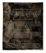 The Four Agreements Fleece Blanket