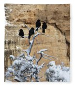 The Four Crows Fleece Blanket