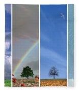 The Four Seasons Fleece Blanket