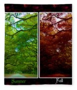 The Four Seasons- Featured In Comfortable Art And Newbies Groups Fleece Blanket