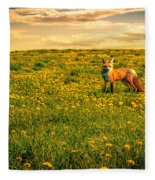 The Fox And The Cow Fleece Blanket