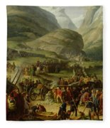 The French Army Travelling Over The St. Bernard Pass At Bourg St. Pierre, 20th May 1800, 1806 Oil Fleece Blanket