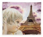 The French Girl Fleece Blanket