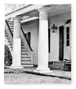 The Front Porch - Bw Fleece Blanket