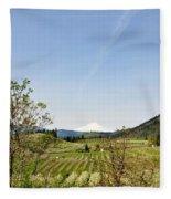 The Fruits Of  Mount Hood Fleece Blanket