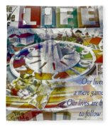 The Game Of Life Fleece Blanket